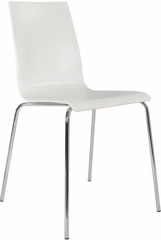 Plastová kavárenská židle bez područek LAURA