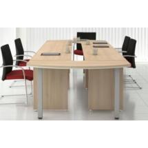 Kancelářský jednací stůl - zakončovací prvek LINE OFFICE,140x50cm