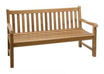 Teaková zahradní lavice ROMA 150 Zahradní nábytek s.r.o. CTM040506-02