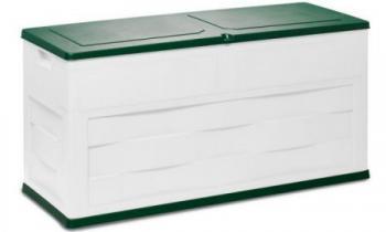 Zahradní plastová truhla ( úložný box), typ 161, 119x46cm, béžová+zelená ROJAPLAST Z161/1