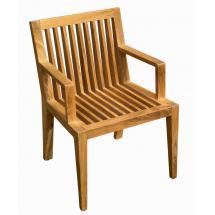 Teaková zahradní židle WELLS, područky