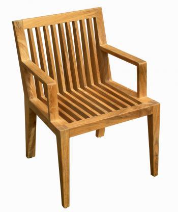 Teaková zahradní židle WELLS, područky Zahradní nábytek s.r.o. DH003930