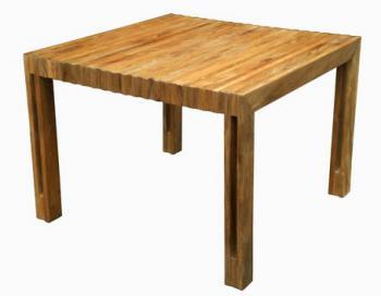 Zahradní teakový stůl WELLS, 100x102 cm Zahradní nábytek s.r.o. DH003927