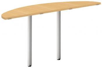 Přídavný stůl oblouk OfficePlus A, 1600x450mm (přísed) ALFA ŘÍČANY 7010110