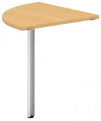 Přídavný stůl čtvrtkruh OfficePlus A, 800x800mm (přísed) ALFA ŘÍČANY 7010113
