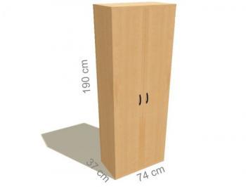 Kancelářská skříň šatní STABIL, 74x37,2x190cm LENZA SC21