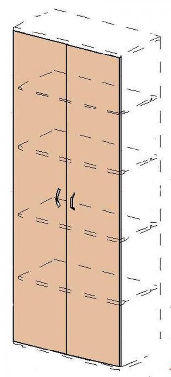 Kancelářská skříň STABIL, 74x37,2x190cm LENZA SC23+DSC21