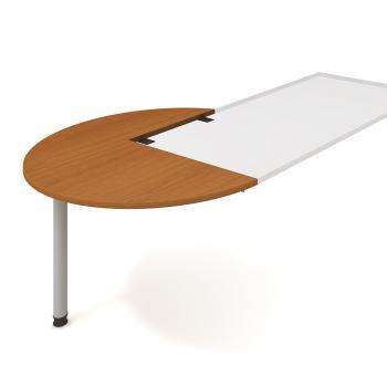 Kancelářský přídavný stůl FLEX, FP 22 L, Ø120x75,5x(80x60)cm HOBIS FP 22 L