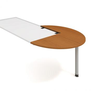 Kancelářský přídavný stůl FLEX, FP 22 P, Ø120x75,5x(60x80)cm HOBIS FP 22 P