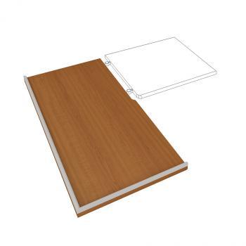 Pracovní deska levá do kuchyně Hobis, DEP 120 L, 120x2,8x60cm DEP 120 L