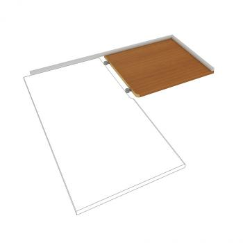 Pracovní deska pravá do kuchyně Hobis, DEP 60 P, 60x2,8x60cm DEP 60 P