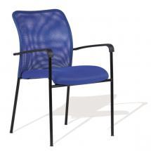 Kancelářská jednací a konferenční židle TRITON BLACK (černá podnož)