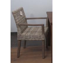 Ratanová jídelní židle, područky, přírodní ratan Kubu