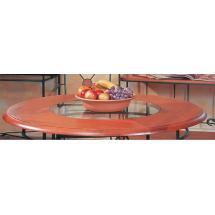 Stolová deska dub se sklem, kruh Ø 110 cm
