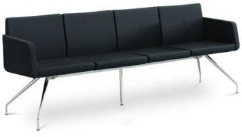 Čtyřlavice bez područek DELTA 4-N4 LD SEATING DELTA 4-N4