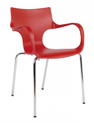 Plastová kavárenská židle s područkami MARIA