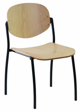 Jednací konferenční židle  WENDY dřevěná (černá konstrukce)
