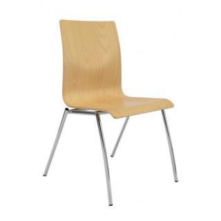 Jednací a konferenční židle IBIS, bez područek, dřevěná