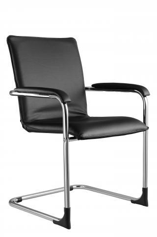 Jednací kancelářská židle SWING (podnož chrom nebo RAL,čalouněné područky))