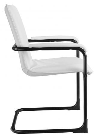 Jednací kancelářská židle SWING (podnož černá, čalouněné područky))