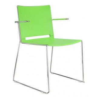 Jídelní plastová židle FILO, s područkami