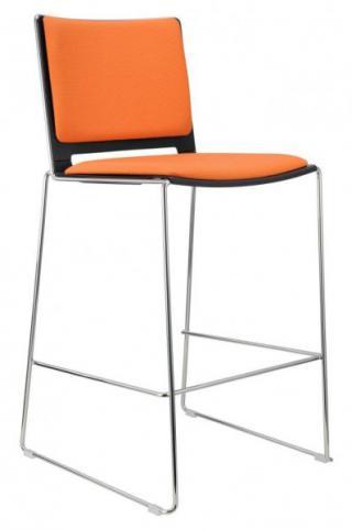 Barová židle FILO, plastová, čalouněná