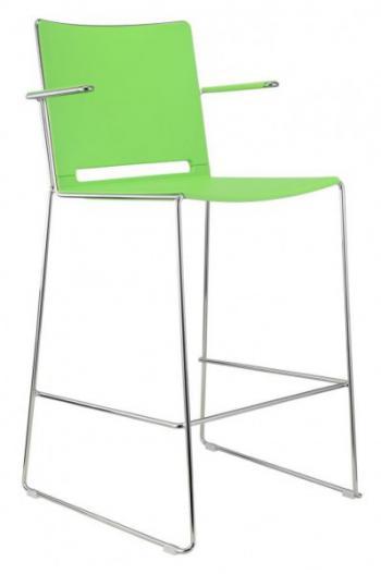 Barová židle FILO, plastová, područky Alba