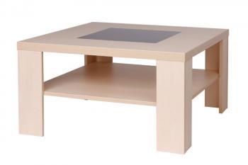 Konferenční stůl TOBIAS, čtverec, sklo černé Bradop K105