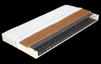 Pružinová matrace TEREZA s potahem z úpletu 195 x 85 x 16 cm DŘEVOČAL