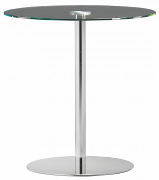 Barový stůl TANIA TABLE, Čiré sklo, Ø 70 cm (TA 861.02)