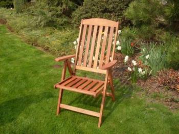 Zahradní židle - křeslo EDINBURG - FSC, polohovatelné ROJAPLAST 414/3