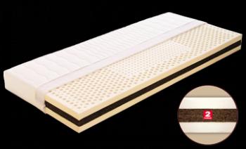 Matrace KLAUDIE s potahem z úpletu 200 x 90 x 18 cm DŘEVOČAL