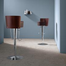 Židle BONGO LG (koženka, dýhovaný tmavý dub,chrom)