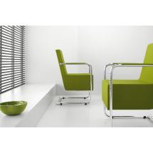 Židle H5 XL (chrom, koženka, zelená)