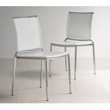 Židle FLY (ocel, kůže)