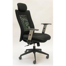 Kancelářská židle (křeslo) LEXA s podhlavníkem (síťový opěrák)