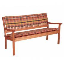 Třímístný podsedák na lavici, 150x45x6 cm, cihlová