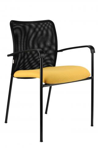 Jednací židle TRINITY černá konstrukce