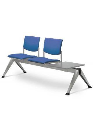 Multisedák dvoumístný SEANCE 099/2T-N1, stoleček, podnož černá